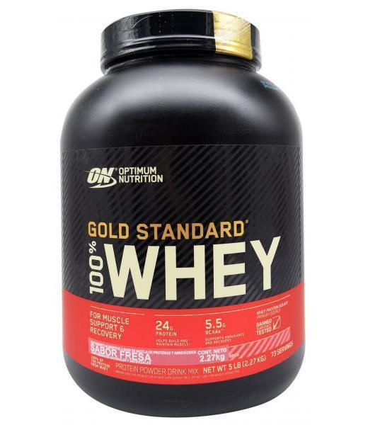 100 WHEY GOLD STD FRESA 5 LBS OPTIMUM NUTRITION