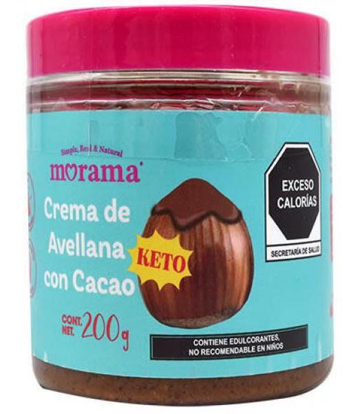 CREMA DE AVELLNAS CON CACAO KETO 200 G MORAMA