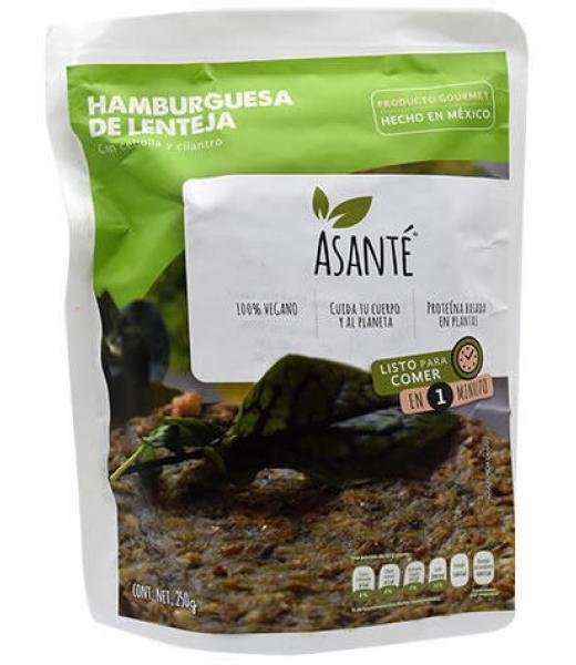 HAMBURGUESA DE LENTEJA 250 G ASANTE