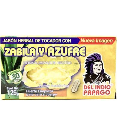 JABON DE SABILA Y AZUFRE 125 G DEL INDIO PAPAGO