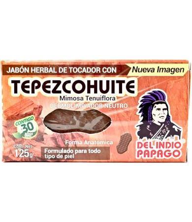 JABON NEUTRO TEPEZCOHUITE 125 G DEL INDIO PAPAGO